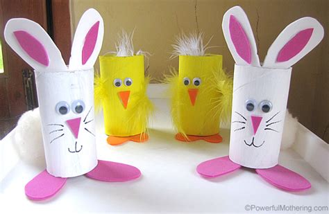 easter toilet paper roll crafts easter treat holders from cardboard