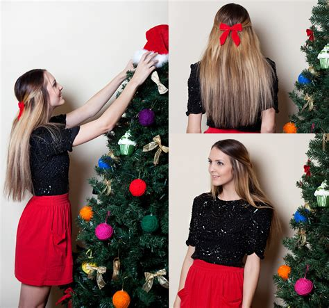 christmas dress new look madeline becker vintage store sparkle top american apparel skirt it s beginning to look