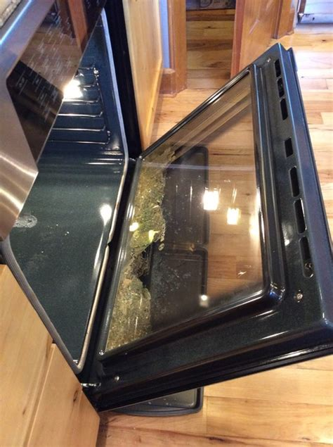 bosch oven door glass shattered during self clean