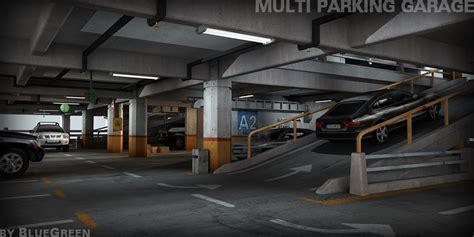 3d garage 3d model multi parking garage