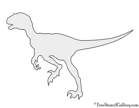 printable dinosaur stencils dinosaur velociraptor silhouette stencil free stencil