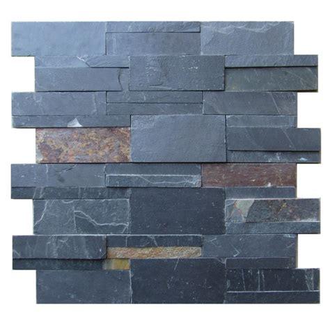 slate stacked stone tile