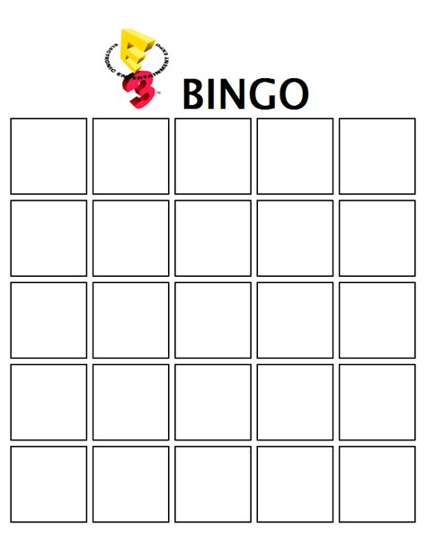 make your own bingo cards template smashboards e3 bingo smashboards