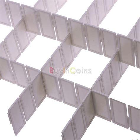 6pcs diy home grid drawer divider plastic household