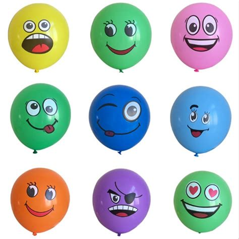 Balon Tiup Emoticon 100 Pcs 2017 100pcs big smiley air balloon happy birthday decoration ballons