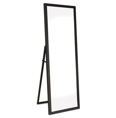 simon contemporary industrial metal frame floor mirror kathy kuo home
