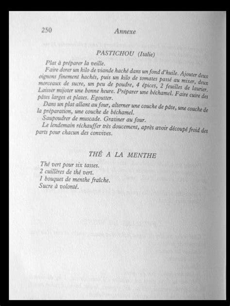 LE MUR DU SON: LES RECETTES DE CUISINE DE MADAME FRANCOIS