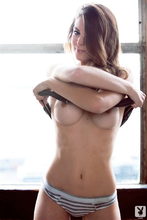 Sexy Amber Sym Teases With Her Perfect Breasts At The Window Playboy Nude Girls Erotica