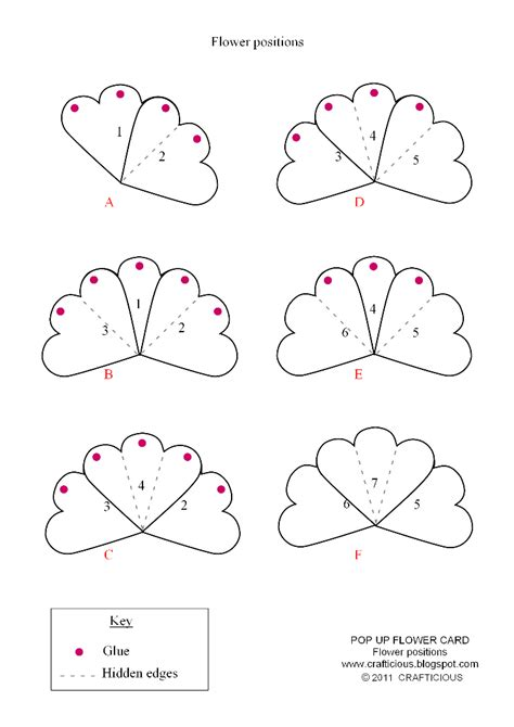 Crafticious Pop Up Card Valentine Flowers Pop Up Cards Templates Free