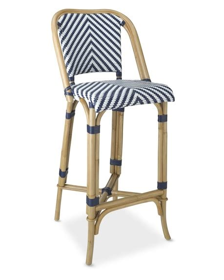 parisian cafe bar stools parisian bistro woven bar stool williams sonoma