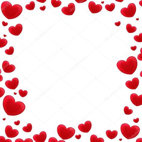 imagenes de amor niños animados marco de dibujos animados con corazones foto de stock