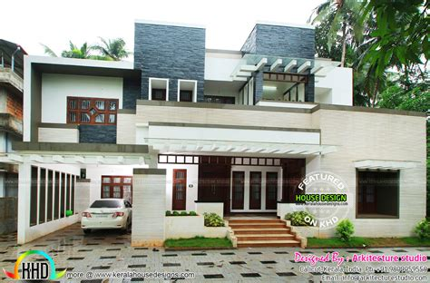 work finished house in kerala home design and floor plans photos woody nody 5 bedroom 2 story 5000 sq ft house floor plans stone and