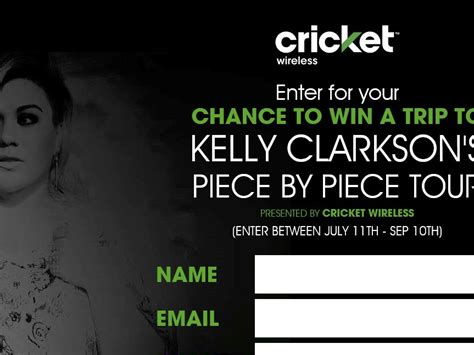 Sweepstakes Cricket - cricket wireless vip concert fly away sweepstakes sweepstakes fanatics