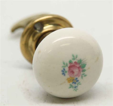 Floral Knobs by Floral Porcelain Closet Door Knob Olde Things
