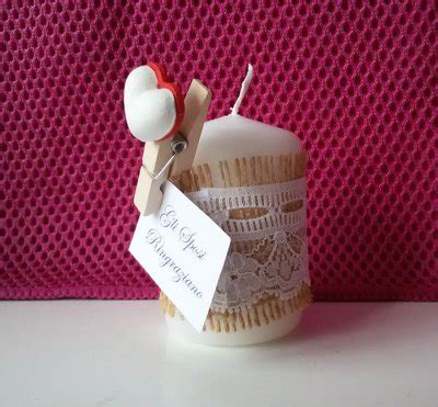segnaposto candela segnaposto candela shabbychic feste matrimonio di