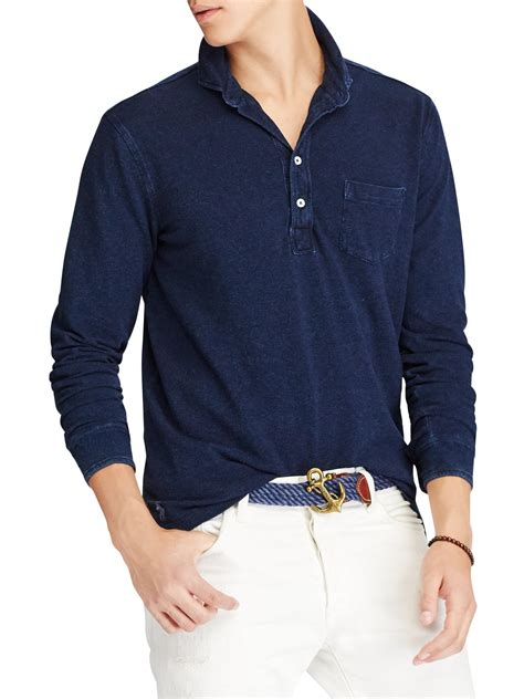 Polo Sz 4 Estimasi 4 5th lyst polo ralph featherweight mesh sleeve polo in blue for