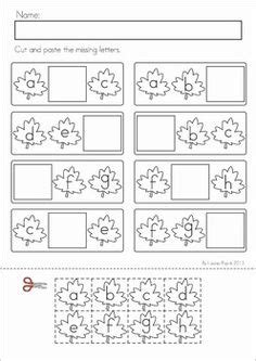 Cut And Paste Fall Worksheets by 13 Best Images Of Missing Letter Sight Words Worksheets