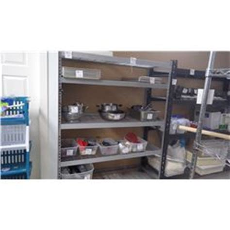 commercial grade metal shelving unit with 5 adjustable