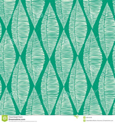 seamless tribal pattern emerald tribal leaves seamless pattern stock illustration