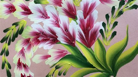 decorative flower one stroke painting shell stroke simple decorative