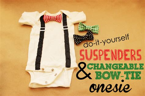 diy st s day bow tie onesie for diy baby bow tie no sew diy do it your self