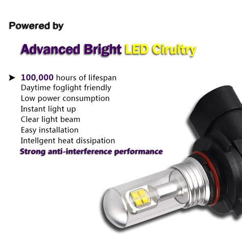 Led Drl 9 Led Sein Bright led 80w 9005 9006 h1 h3 h4 h7 h11 nebel licht birne