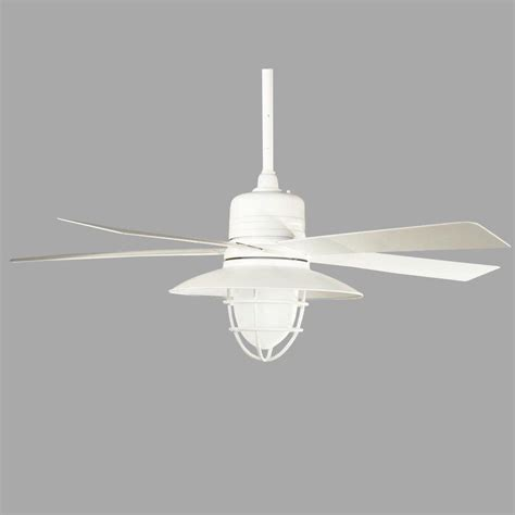 Home Depot White Ceiling Fan With Light Home Decorators Collection Grayton 54 In Indoor Outdoor White Ceiling Fan With Light Kit And