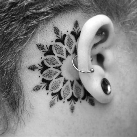 dot tattoo behind ear 1000 ideas about small mandala tattoo on pinterest