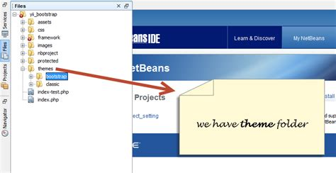 set layout yii framework yii framework with twitter bootstrap in netbeans