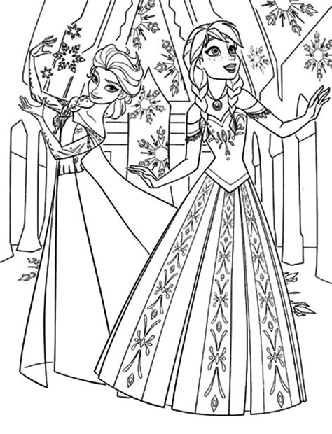 coloring pages elsa castle disney elsa s ice castle coloring pages and therand
