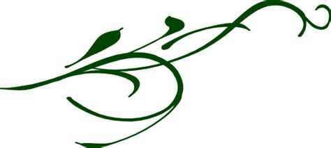 Jw Wallborder Sulur Daun Light Yellow green leaf swirl clip at clker vector clip