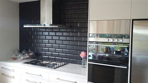 black kitchen tiles ideas 18 black subway tiles in modern kitchen design ideas