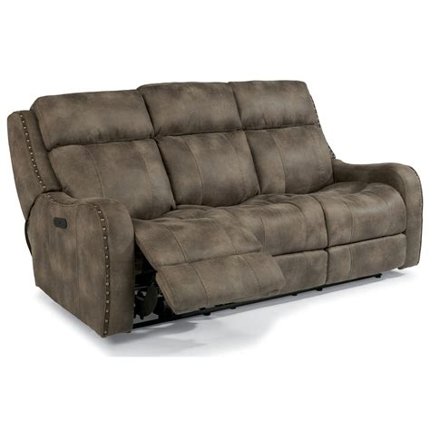 power reclining sofa with adjustable headrest flexsteel latitudes springfield power reclining lay flat