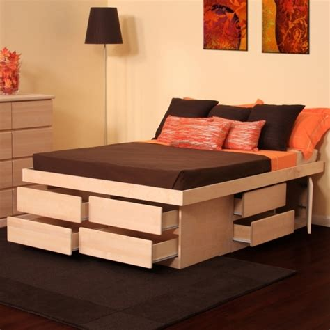 tall platform bed frame tall platform bed frame maximize under bed storage image