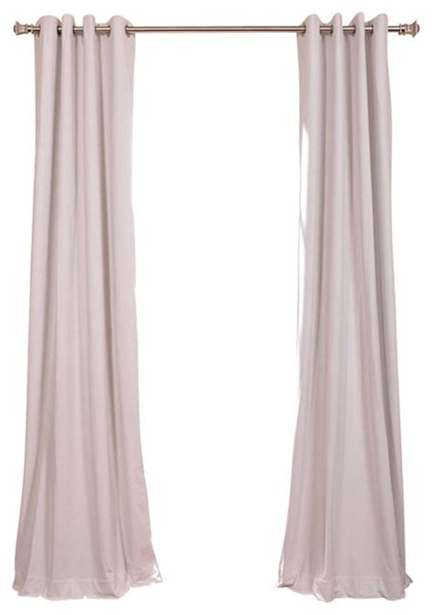 off white velvet curtains signature off white grommet blackout velvet curtain single