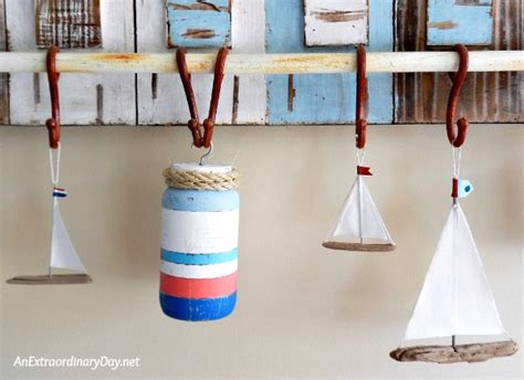 marine decorations for home how to make fun nautical buoys with mason jars an extraordinary day