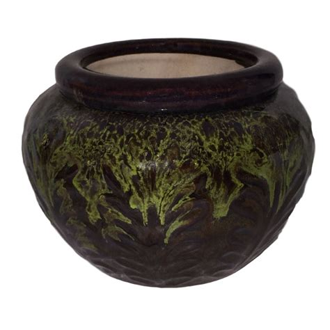 self water pot 7 quot moss round leaf accent self watering pot