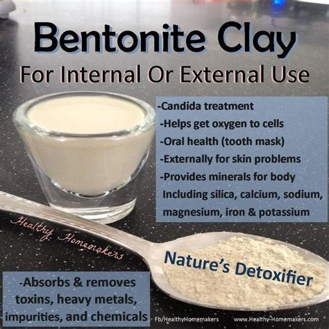 Radiation Detox Clay Bath by Benefits Of Bentonite Clay By Healthy Homemakers Detox