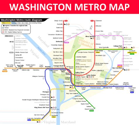 washington dc map subway washington dc metro map lines stations and interchanges