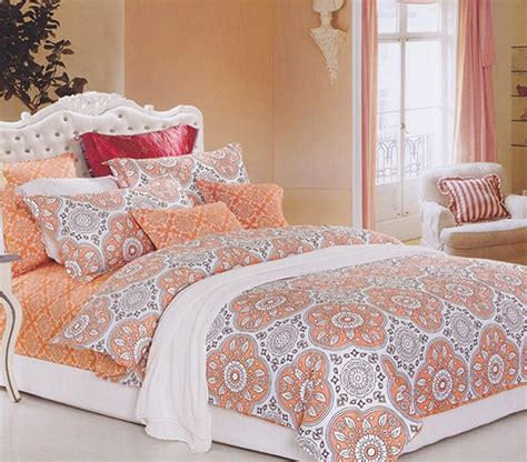 Colorful Bed Sheets Mandala Peach Twin Xl Comforter Dorm Bedding For Girls