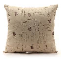 vintage square linen cotton throw pillow cushion