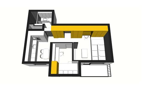 50 sq meters 50 sq meter space saving apartment layout for young family