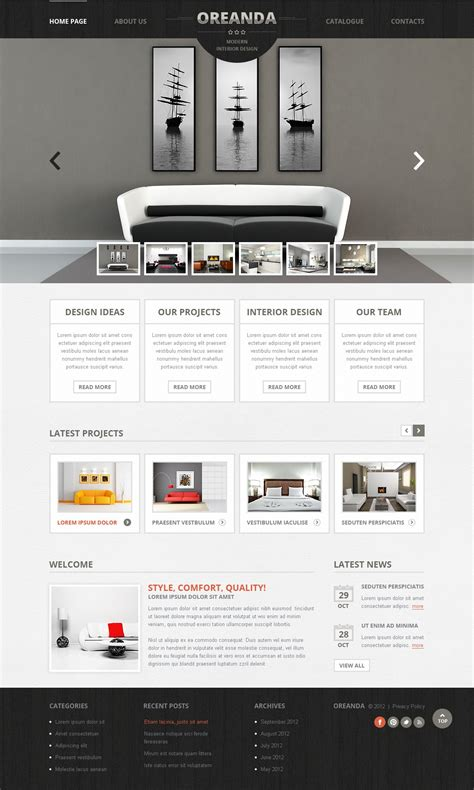 Interior Design Website Template 41277 Interior Design Website Templates