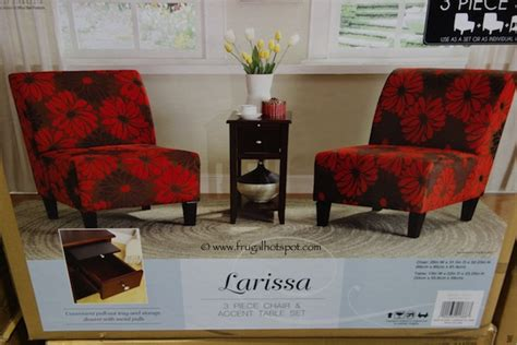accent chair and table set costco ave six larissa 3 piece chair accent table set