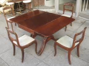 Duncan Phyfe Dining Table And Chairs Uhuru Furniture Collectibles Sold Duncan Phyfe Dining Set 175