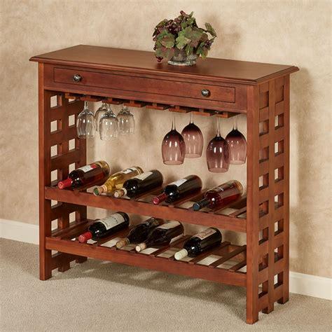 colborn mission style wine rack table