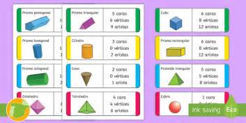 figuras geometricas de 4 lados tarjetas educativas las propiedades de las figuras 3d