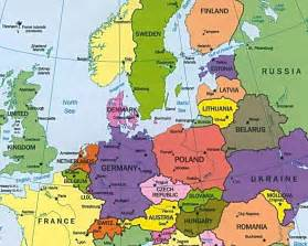 Map Of Europe Countries by Central Europe