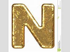 Golden Font. Letter N. Stock Images - Image: 6452244 G Design Letter