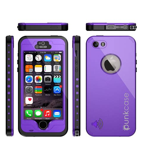 Iphone Iphone 5 5s In Purple Cat Cover punkcase studstar purple apple iphone 5s 5 waterproof